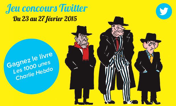 """Concours Twitter : gagnez le livre """"Les 1000 unes Charlie Hebdo"""" !"""