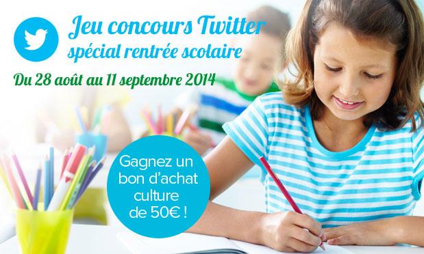 Concours Twitter : gagnez un bon d'achat culture de 50€ !